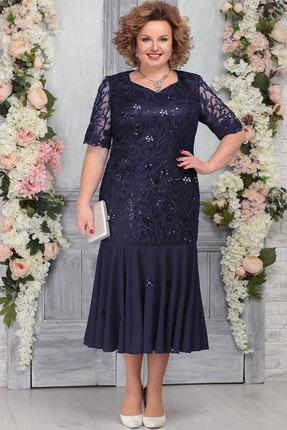 Платье Ninele 5767 тёмно-синий