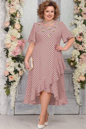 Платье Ninele 7278 пудра