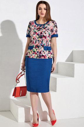 Комплект юбочный Lissana 3971 синий с розовым