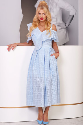 Платье Vesnaletto 2072-4 голубой