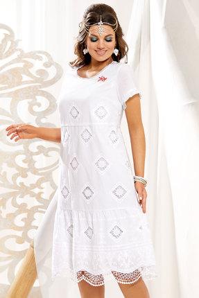 женское повседневные платье vittoria queen, белое