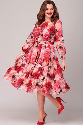Платье Асолия 2369.3 красные тона