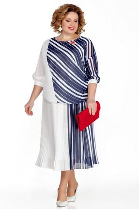 Платье Pretty 1042 сине-белый