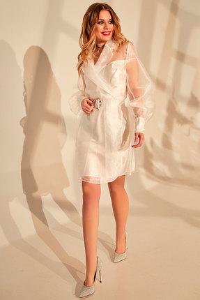 женское вечерние платье golden valley, молочное