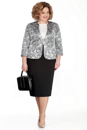 Комплект юбочный Pretty 1053 черно-белый