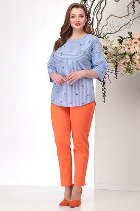 Комплект брючный Michel Chic 1151 оранжевый с голубым