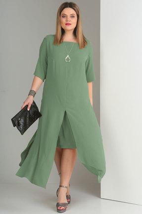Комплект юбочный Viola Style 2623 светлая бирюза