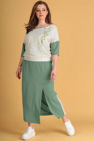 Комплект юбочный Viola Style 2627 олива