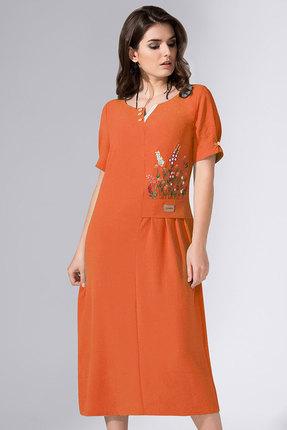 женское повседневные платье avanti erika, оранжевое