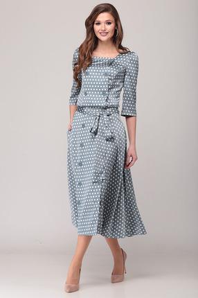 Комплект юбочный Verita Moda 2058 синие тона