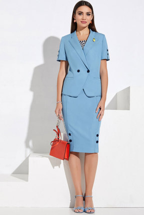 Комплект юбочный Lissana 3962 голубой