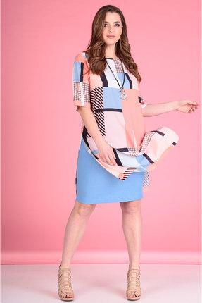 Комплект юбочный Viola Style 2598 розовый с голубым