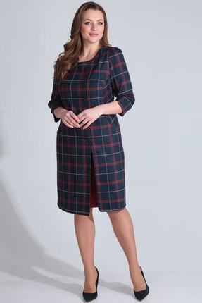 Комплект юбочный Viola Style 2632 синий с бордо