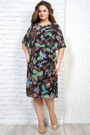 Платье Alani 1132 черный с цветами
