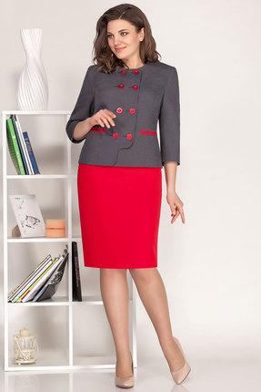 Комплект юбочный Ivelta plus 2494 серый с красным