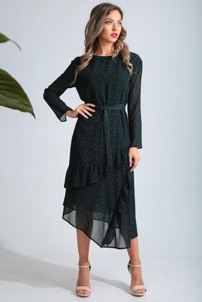 Платье SandyNa 13675 изумруд