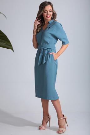 Платье SandyNa 13669 голубой