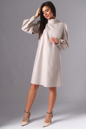 Платье Миа Мода 1136 белое серебро