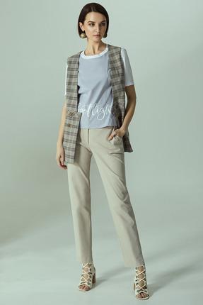 Комплект брючный Denissa Fashion 1291 хаки