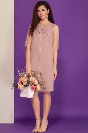 Платье DilanaVIP 1507 чайная роза