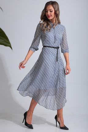 Платье SandyNa 13678 голубой