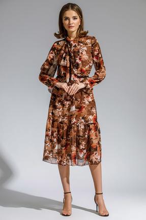 Платье Gizart 7291цв оранжевые тона