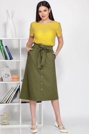Комплект юбочный Ivelta plus 2492н желтый с хаки