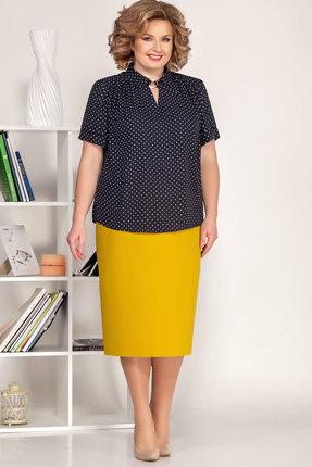 Комплект юбочный Ivelta plus 2493 синий с желтым