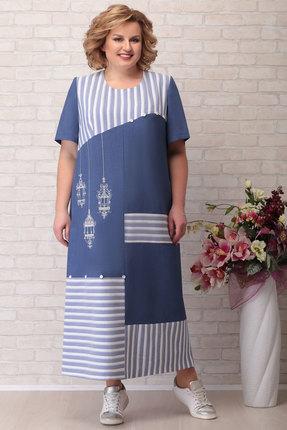 Платье Aira Style 741 синий