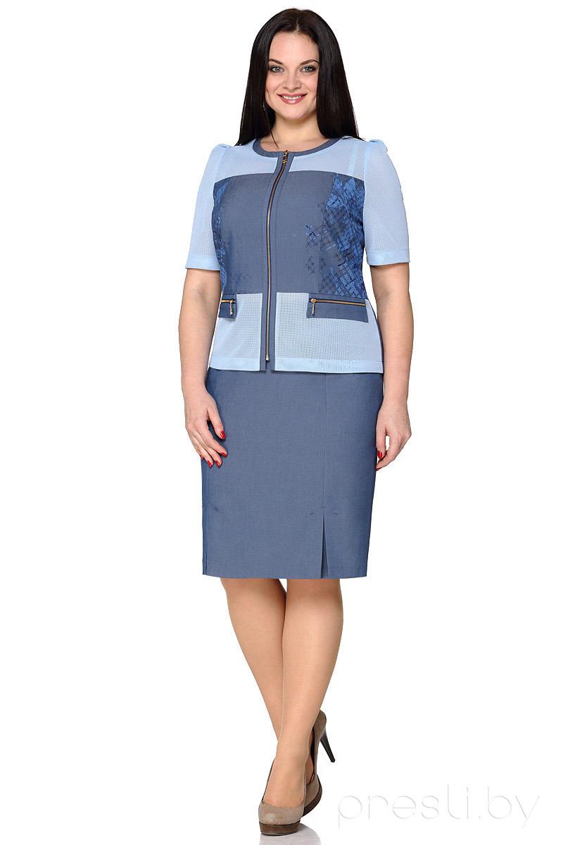 Комплект юбочный Nicole & Nicole 6081 голубой