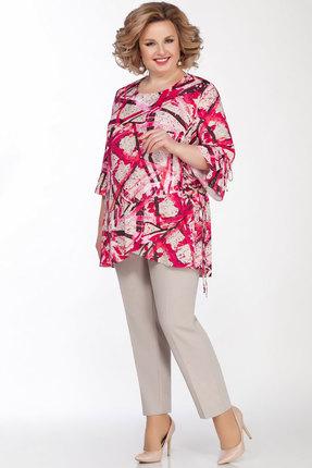 женский брючный костюм lakona, малиновый