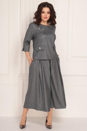 женский брючный костюм solomeya lux, серый