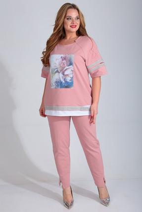 Комплект брючный Диамант 1428 розовый