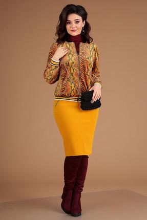 Комплект юбочный Мода-Юрс 2477 горчица