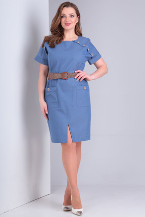 женское повседневные платье danaida, синее