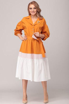 женское повседневные платье danaida, оранжевое