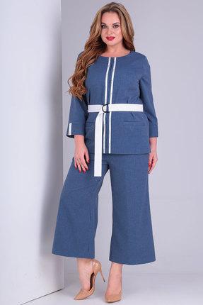 женский брючный костюм danaida, синий