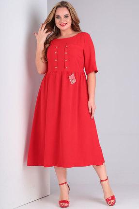 женское повседневные платье danaida, красное