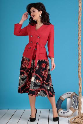 Комплект юбочный Мода-Юрс 2470 красные тона