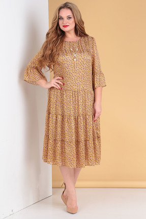 Платье Moda-Versal 2176 горчица