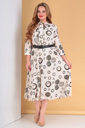 Платье Moda-Versal 2180 бежевые тона