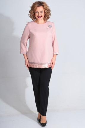 женский брючный костюм golden valley, розовый
