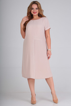 Платье SandyNa 13560 бежевый
