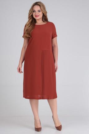 Платье SandyNa 13560 кирпичный