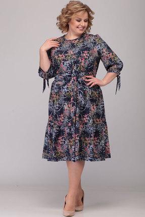женское повседневные платье асолия, синее