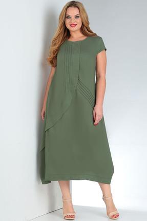 женское повседневные платье milana, зеленое