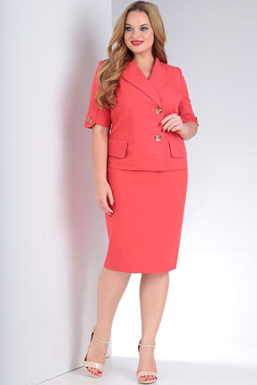 Комплект юбочный Milana 209 розово-красный