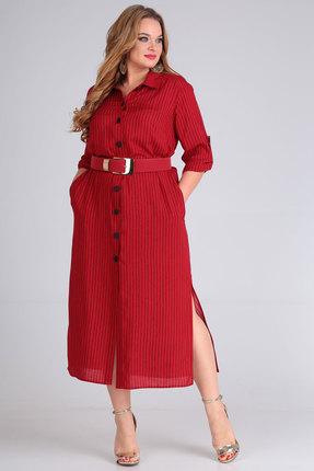 Платье Andrea Style 00257 красный