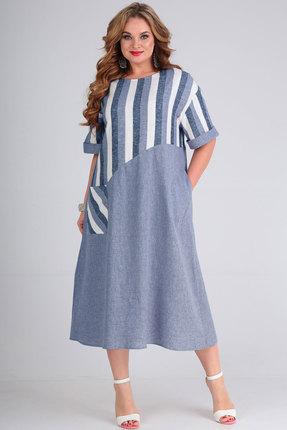 Платье Andrea Style 00265 голубой