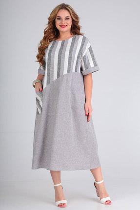 Платье Andrea Style 00265 серый